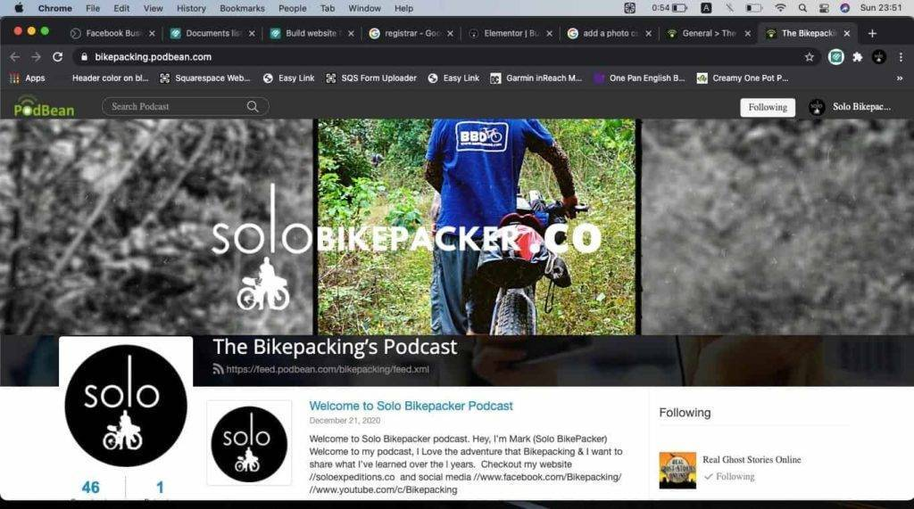 how to build a cycle touring website